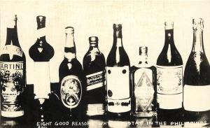 c1920 RPPC Postcard Alcohol Liquor Bottles 8 Reasons We Stay in the Philippines