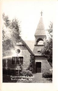 Burlingame Kansas~Presbyterian Church~Big Open Belltower Postcard RPPC 1940s