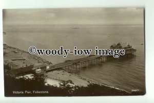 tp0879 - Kent - Victoria Pier from the Cliffs c1927, in Folkestone - Postcard