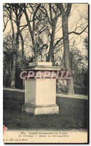 Postcard Old Saint Germain Laye el statue Terrace Vercingetorix