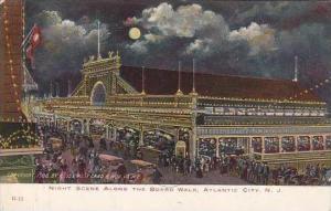 New Jersey Atlantic CityNight Scene Along The Board Walk 1906