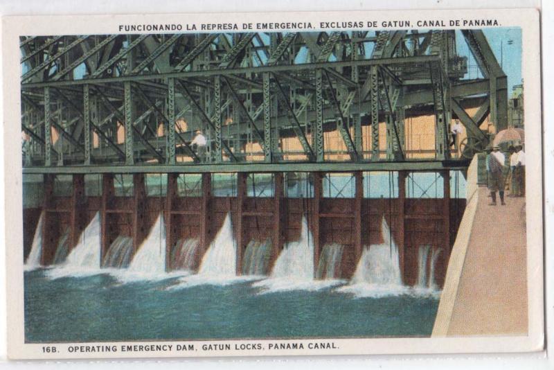 Opening Emergency Dam, Gatum Locks, Panama Canal