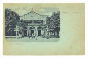 Gruss aus Wiesbaden, Kurjaal mit Restauration, Germany , 1890s