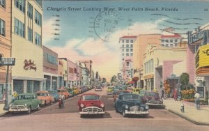 WEST PALM BEACH , Florida , 30-40s ; Clematis Street Looking West