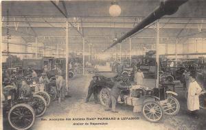 Boston MA Randliff Motor Car Co. Panhard & Levassor Repair Workshop Postcard