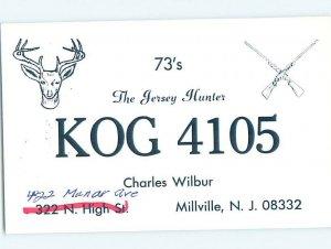Pre-1980 RADIO CARD - CB HAM OR QSL Millville - Near Vineland NJ AH2702