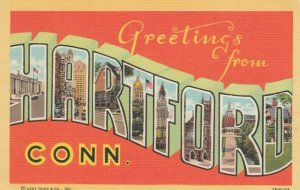 Large Letter Greetings, HARTFORD , Connecticut , 30-40s