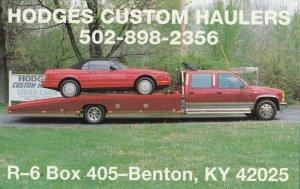 BENTON , Kentucky, 1950-60s ; Hodges custom Hauler trucks