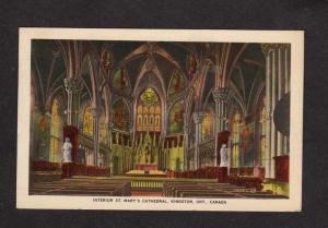 ON St Mary's Marys Cathedral Church Kingston Ontario Carte Postale Postcard