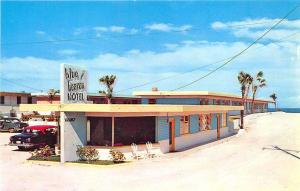 Daytona Beach FL Blue Heaven Motel Old Cars Postcard