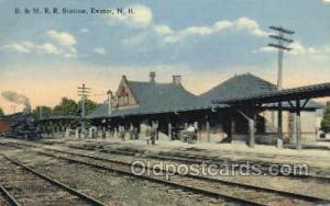B and MRR Station, Exeter, NH, New Hampshire, USA Train Railroad Station Depo...