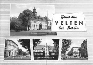 Gruss aus Velten bei Berlin, Rathaus, Polytechnische Oberschule Strasse