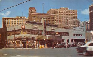 Detroit MI Art Deco Greyhound Bus Station~Capital Airlines~Consolidated Gas 1953