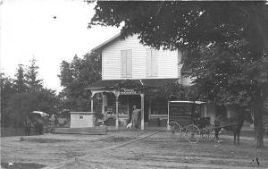 Lakemont NY General Store Millard Grocer Horse & Wagon RPPC Postcard