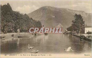 Old Postcard Annecy Le Port and the Mount Veyrier Boat