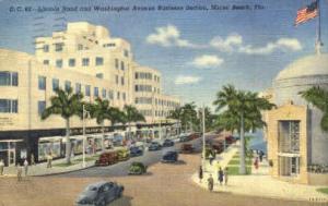 Lincoln Road Miami Beach FL 1945