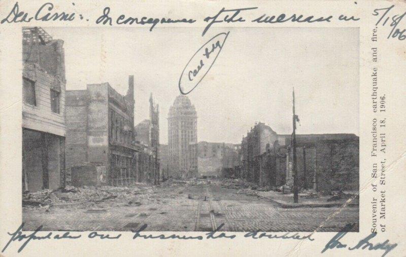 SAN FRANCISCO, California;  1906 ; Earthquake Damage #1