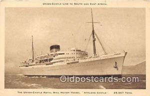 Union Castle Royal Mail Motor Vessel Athlone Castle Ship Postcard Post Card A...
