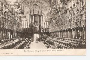 Postal 026981 : St. Georges Chapel Choir from East. Windsor