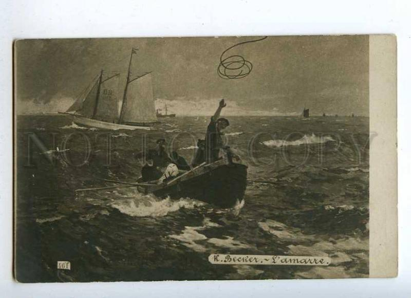 215410 Mooring ELBE Ship STORM by BECKER Vintage Russian PC