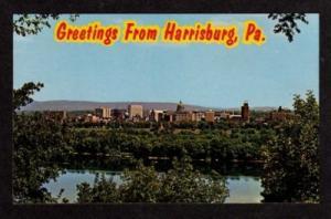 PA Skyline HARRISBURG PENNSYLVANIA PENN Postcard PC