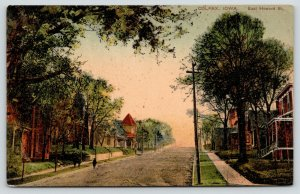 Colfax Iowa~East Howard Street Uphill~Victorian Homes Both Sides Road~1908 PCK