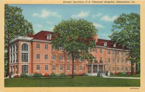 Alexandria Louisiana~U S Veterans Hospital~Nurses Quarters~1940 Postcard