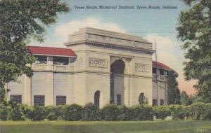 Indiana Terre Haute Memorial Stadium 1952 Curteich