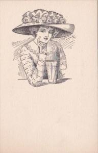Beautiful Lady Wearing Large Hat