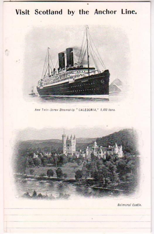 Visit Scotland by Anchor Line, Caledonia, Balmoral Castle
