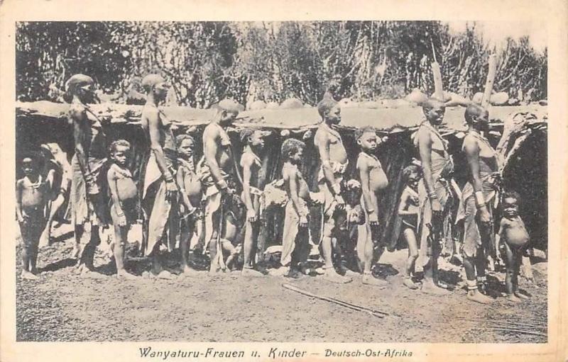 German East Africa Tanzania Deutsch-Ost-Afrika Wanyaturu-Frauen u Kinder Enfants