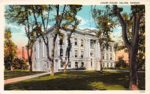 Court House, Salina, Kansas, Early Postcard, Unused