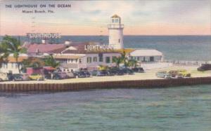 Florida Miami Beach Lighthouse Restaurant On The Ocean 1953