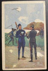 Mint France Color Picture Postcard Pilots Reviewing The Plan