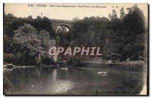 Postcard Old Paris Buttes Chaumont The Baiques Bridge
