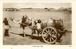 Yemen - Aden. Water Cart   *RPPC