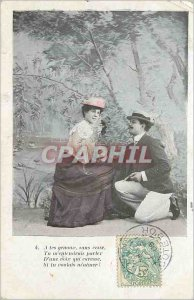 Old Postcard To your knees you ever hear me speak of a voice that Caresse if ...