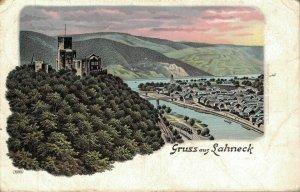Germany Gruss aus Lahneck Litho 06.97