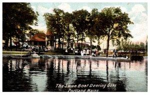 Maine  Portland  The Swan Boat Deering Oaks