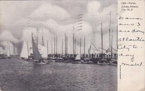 New Jersey Atlantic City Yachts At Inlet  1907