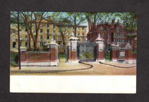 RI Gates Brown Univ University College Glitter Providence Rhode Island Postcard