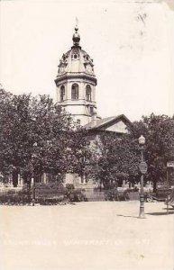Iowa Winterset Court House 1944 Real Photo RPPC