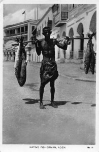 Yemen Aden native fisherman ethnic Postcard