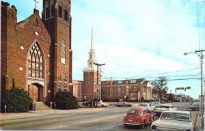 Florence South Carolina SC Church VW Bug Unused Vintage Postcard D61