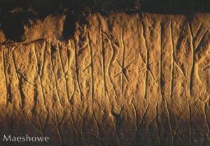Meashowe Nordic Norse Ruins Scottish Postcard