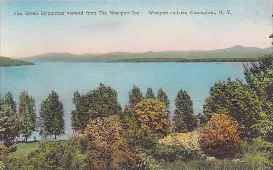 New York Westport On Lake Champlain The Green Mountains Viewed From The Westp...