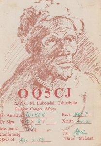Belgan-Congo , 1955 ; Lubondai , Tishimbulu , Native Man portrait