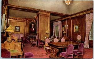 Chicago IL Postcard HOTEL LA SALLE The Waiting Room Interior c1910s Unused