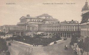 WARSZAWA , Poland , 1910s ; Opernhaus am Theaterplatz -- Teatr Wielkl