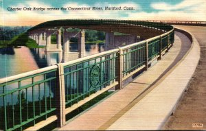 Connecticut Hartford Charter Oak Bridge Across The Connecticut River
